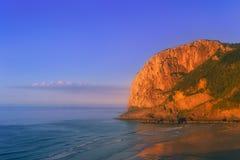 Cape of Ogono and laga beach at sunset. Cape of Ogono and laga beach at the sunset Stock Photo