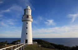 Cape Otway Lighthouse, Melbourne, Australia. Cape Otway Lighthouse with a clear blue sky, Great Ocean Road, Australia Royalty Free Stock Photos