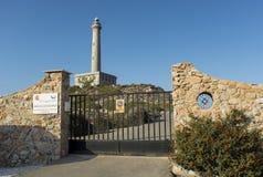 Cape of Palos Lighthouse Entrance Door. LA MANGA DEL MAR MENOR, CARTAGENA, MURCIA, SPAIN - JULY 23, 2016: Cape of Palos Lighthouse Entrance Door Royalty Free Stock Image