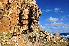 Cape Peninsula, Cape Town. The cliffs at Cape Peninsula, Cape townSouth Africa Stock Photos