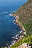 Cape point. Cliff going down into ocean at Cape point South Africa Royalty Free Stock Photos
