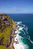 Cape Point. Where the Indian Ocean meets the Atlantic, at the tip of the Cape Peninsula, South Africa royalty free stock photos