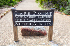 Cape point GPS sign board Royalty Free Stock Photography