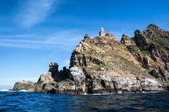 Cape Point. A Cape Point landscape from the water stock photography