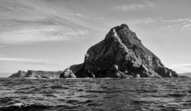 Cape Point. A Cape Point landscape from the water stock photo