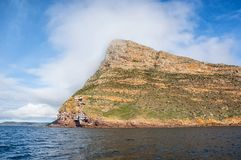 Cape Point. A Cape Point landscape from the water stock image