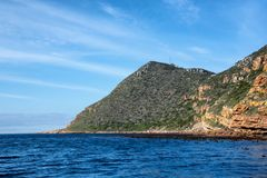 Cape Point. A Cape Point landscape from the water royalty free stock photography