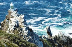 Cape point light house. Cape point horn of South Africa Stock Photo
