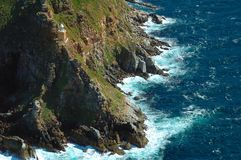 Cape Point Lighthouse. Lighthouse at Cape Point - close to Cape of Good Hope (South Africa stock photos
