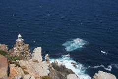 Cape Point Lighthouse. Against a blue sea Stock Images