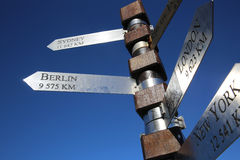 Cape Point Signpost. Signpost at Cape Point in South Africa Stock Image