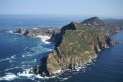 Cape Point, South Africa. Cape Point aerial still image, Cape Town South Africa Stock Photos