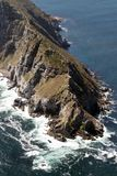 Cape Point South Africa. Ariel view of cape point in south africa stock image