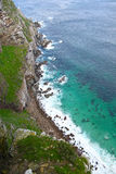 Cape Point South Africa. A view down to the rocks at Cape Point South Africa Stock Images
