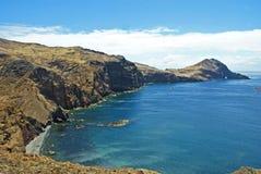 Cape Ponte de在马德拉岛海岛,葡萄牙上的Sao Lorenco 免版税库存照片