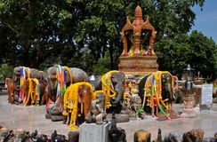 Cape Promthep, Thailand: Elephant Shrine Royalty Free Stock Photos