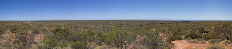 Cape Range National Park Panorama. Panorama of Cape Range National Park near Exmouth, Western Australia Stock Images