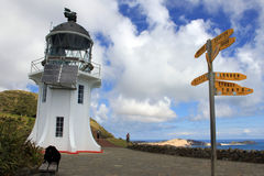 Cape Reinga Lighthouse at the edge of the Northland, New Zealand. Stock Photography