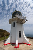 Cape Reinga Lighthouse. Looking up at the Cape Reinga Lighthouse at the most northerly point in New Zealand Royalty Free Stock Images