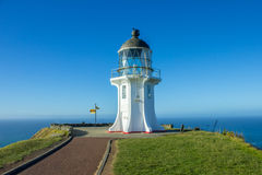 Cape Reinga lighthouse. The northernmost point of the north island of New Zealand Royalty Free Stock Photo