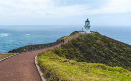 Cape Reinga lighthouse at the tip of the North Island in New Zea Royalty Free Stock Photos