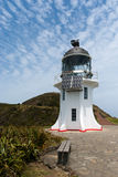 Cape Reinga lighthouse at the tip of the North Island in New Zea Stock Image