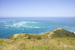 Cape reinga New Zealand. Lighthouse of Cape Reinga from northland New Zealand Stock Photo