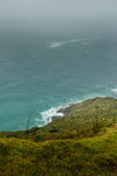 Cape Reinga, New Zealand. Oceans colliding in Cape Reinga, North Island in New Zealand royalty free stock image