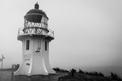 Cape Reinga, New Zealand. Oceans colliding in Cape Reinga, North Island in New Zealand stock image