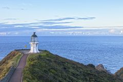 Cape Reinga, Northland, New Zealand. Cape Reinga is at the northern tip of New Zealand`s North Island, though not quite the most northerly point. It is a place Royalty Free Stock Photography