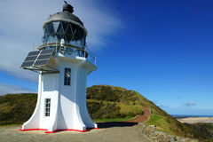 Cape Reinga. Old lighthouse in Cape Reinga, New Zealand royalty free stock images