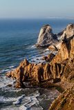 Cape Roca, the westernmost extent of continental Europe. Cape Roca forms the westernmost extent of mainland Portugal, continental Europe and the Eurasian land Stock Image