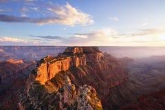 Cape Roya at Sunsetl, Grand Canyon North Rim Stock Image