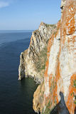 Cape Sagan Khushun on Lake Baikal Stock Image