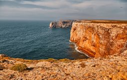 Cape Saint Vincent, Portugal stock photo
