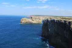 Cape Saint Vincent. View from Cape St. Vincent (Sagres, Portugal Royalty Free Stock Photos