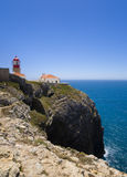 Cape Saint Vincents lighthouse, Sagres Stock Image