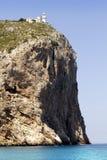 Cape San Antonio lighthouse white coast Alicante Royalty Free Stock Image