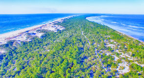 Cape San Blas coastline, Florida aerial view Stock Photo