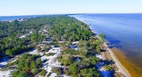 Cape San Blas coastline, Florida aerial view Stock Image