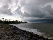 Cape San Blas Florida. While sight seeing a storm was brewing in Cape San Blas Royalty Free Stock Images
