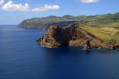 A cape in the Sao Jorge island. Cape and ocean in the Sao Jorge island in the azores archipelago. Portugal stock photo