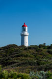 Cape Schanck lighthouse on a cliff Royalty Free Stock Photos
