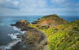 Cape Schanck Landscape. Cape Schanck boardwalk on the Mornington Peninsula Stock Photo