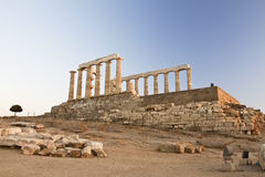 Cape Sounion in Greece. Temple of Poseidon at Cape Sounion, Greece Stock Images