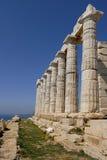 Cape Sounion in Greece. Temple Poseidon, Cape Sounion in Greece Stock Images