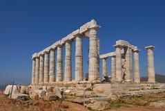 Cape Sounion in Greece. Temple Poseidon, Cape Sounion in Greece Stock Photo