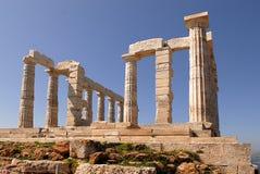 Cape Sounion in Greece. Temple Poseidon, Cape Sounion in Greece Royalty Free Stock Image
