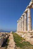 Cape Sounion in Greece. Temple Poseidon, Cape Sounion in Greece Stock Photography