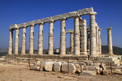 Cape Sounion Poseidon Temple Royalty Free Stock Images